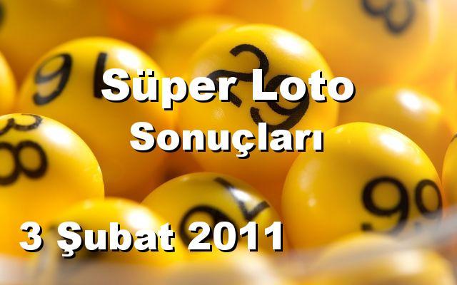 Süper Loto detay bilgiler 03/02/2011