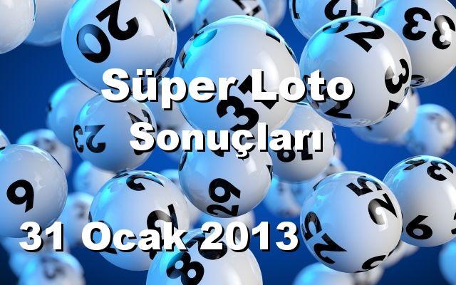 Süper Loto detay bilgiler 31/01/2013