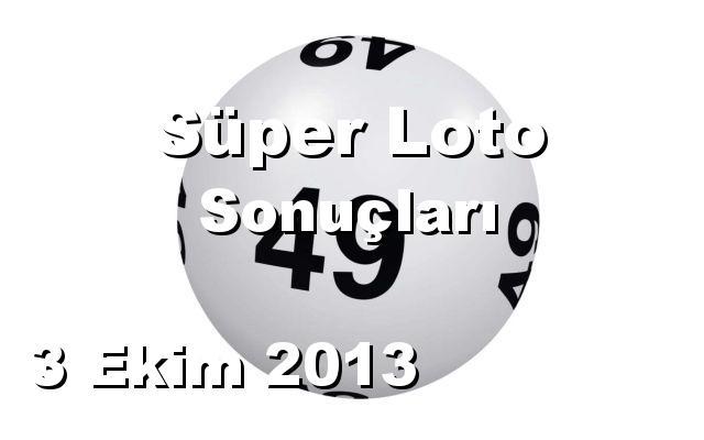 Süper Loto detay bilgiler 03/10/2013