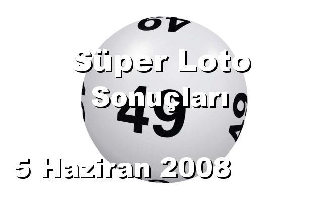 Süper Loto detay bilgiler 05/06/2008