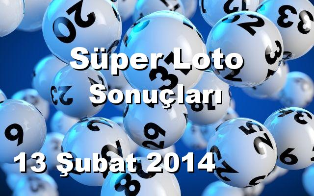 Süper Loto detay bilgiler 13/02/2014