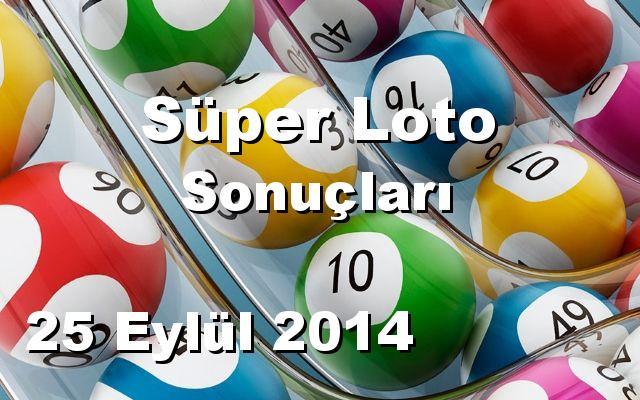 Süper Loto detay bilgiler 25/09/2014