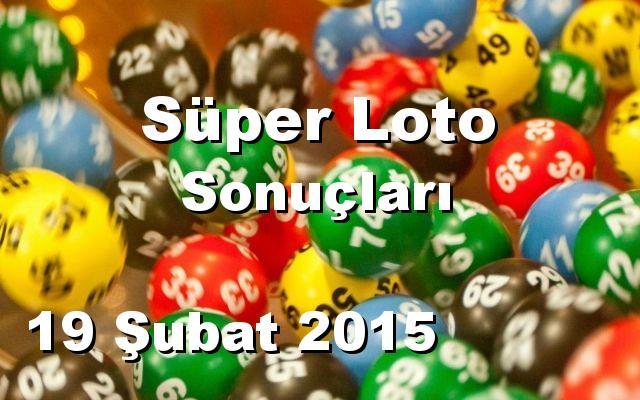 Süper Loto detay bilgiler 19/02/2015