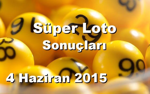 Süper Loto detay bilgiler 04/06/2015