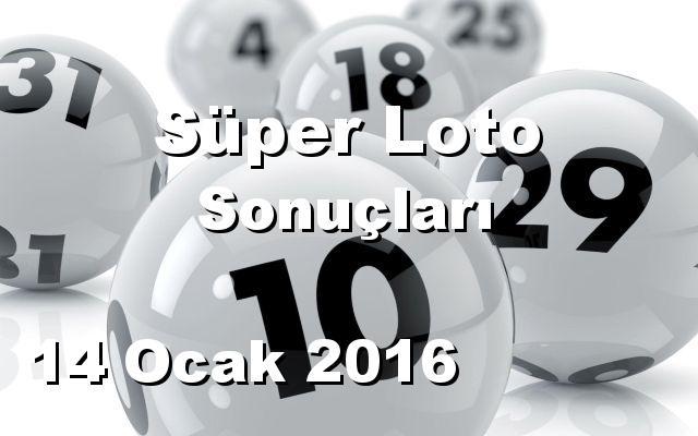 Süper Loto detay bilgiler 14/01/2016