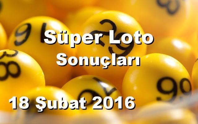 Süper Loto detay bilgiler 18/02/2016