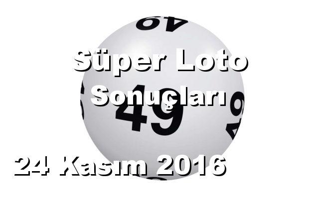 Süper Loto detay bilgiler 24/11/2016