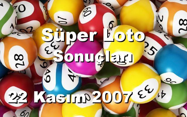 Süper Loto detay bilgiler 22/11/2007