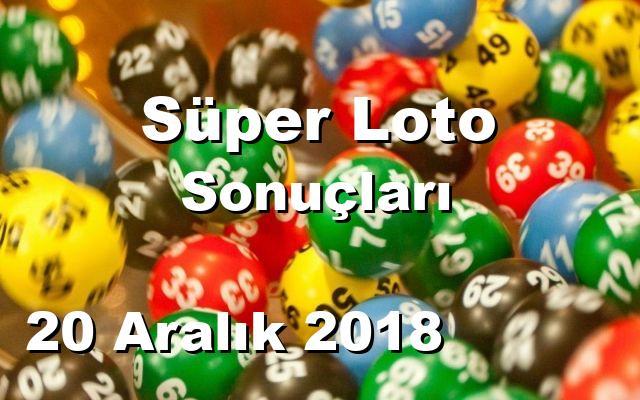 Süper Loto detay bilgiler 20/12/2018
