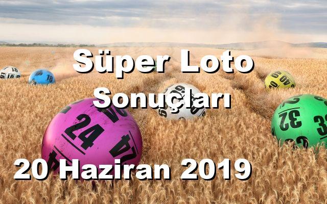Süper Loto detay bilgiler 20/06/2019