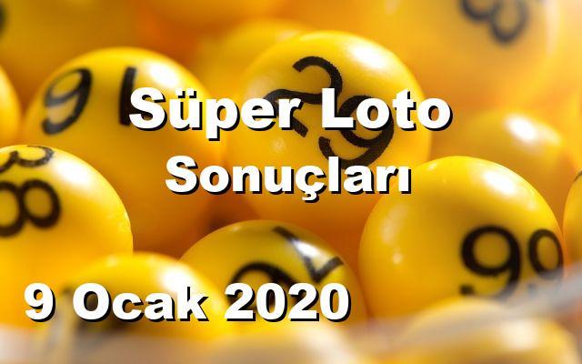 Süper Loto detay bilgiler 09/01/2020
