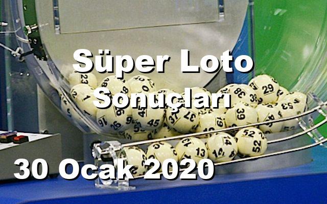 Süper Loto detay bilgiler 30/01/2020