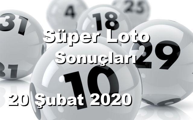 Süper Loto detay bilgiler 20/02/2020