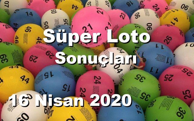 Süper Loto detay bilgiler 16/04/2020