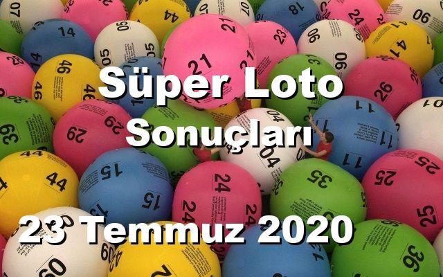 Süper Loto detay bilgiler 23/07/2020