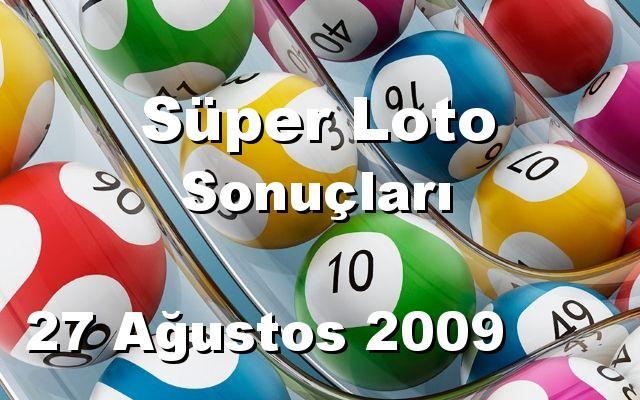 Süper Loto detay bilgiler 27/08/2009